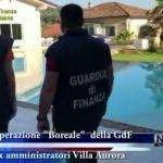 """Villa Aurora : nel servizio Tg le immagini dell'operazione """"Boreale"""""""